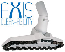 Axis Floor Tool gives you the agility to vacuum those hard to reach places.